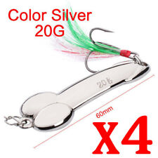 4 Penis Fishing Lure 20g Metal Slice Spoon Micro Jigs Trolling Tailor Lures Spin