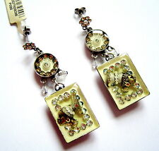 KONPLOTT Ohrhänger Souvenir d´Afrique light yellow / antique silver