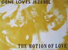 "GENE LOVES JEZEBEL POSTER ""MOTION OF LOVE"""