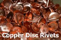 """Copper Disc Rivets 19mm (3/4"""") Copper Roofing Rivets - Copper Slate Tile Rivet"""