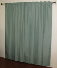 Blockout Curtains Concealed Tab Top Jade Green PAIR Made in Australia SALE