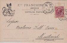 "# GENOVA: testatina- F.co FRANCHINI- marca registrata ""LEALTA'"""
