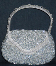 hand bags from beads and sequins,pink,silver,gold,black,green,blue,grey,copper