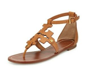 TORY BURCH Phoebe Strappy Sandals Flats Shoes Size 8