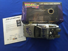 Michael J Fox Christopher LLoyd Signed Back To The Future Delorean 1:15 PSA/DNA