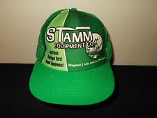 VTG-1980s Stamm Equipment Lake Odessa Wayland Michigan farming tractor hat sku18