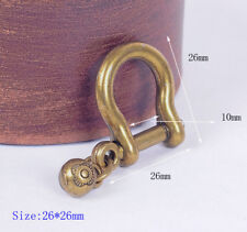 5 pcs Vintage Brass Shackle Joint Connect Key Chain Hook Leathercraft Hardware