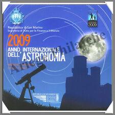 SAINT-MARIN - Année 2009 - Coffret BU - Série €uro - Astronomie