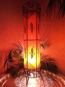 Afrikanische Marokkanische Hennalampe Stehleuchte Stehlampe Lederlampe Lampe