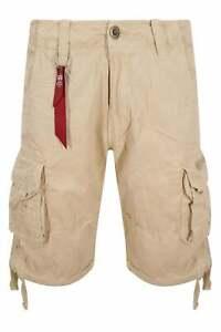 Mens Shorts ALPHA INDUSTRIES Jet Cargo Shorts | Khaki