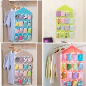 16 Pocket Shoe Space Door Hanging Organizer Rack Wall Bag Storage Closet Holder