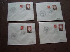 FRANCE - 4 enveloppes 30/6/1960 (B14) french