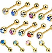 Tongue Opal Bar/Barbell Body Piercing Jewellery