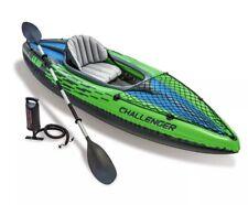 NEW Intex Challenger K1 Inflatable Kayak Set w/ Aluminum Oars Air Pump