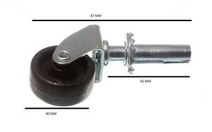 Laufrollen Einzelrad Buchse Fix 3.8cm 40mm Packung 100