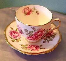 Duchess England Teacup And Saucer Roses w/ Gold Beautiful