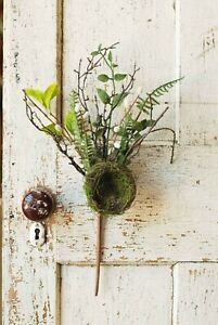 """Artificial Greenery Floral Pick with Bird's Nest Spring Summer Nature Decor 18"""""""