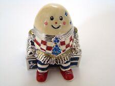 Enamel Jeweled Trinket Hinged Box - Humpty Dumpty Jeweled