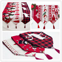 Christmas Table Runner Dining Table Cover Mats Doilies Party Home Decor 35x170cm