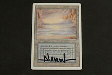 Magic MTG Revised - Underground Sea MP/played Signed Rob Alexander reserved list