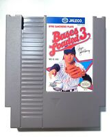 Bases Loaded 3 ORIGINAL NINTENDO NES GAME Tested + Working & Authentic! VG!