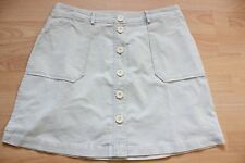 BODEN  light grey cord button through mini skirt  size 18R . NEW .  WG676