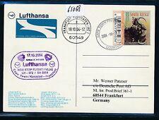 65068) LH FF Kapstadt Südafrika - Frankfurt 17.10.2004, card Büffel buffalo