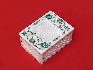 Marble Jewelry Box Inlay PietraDura Handmade For Home Decor and Gift