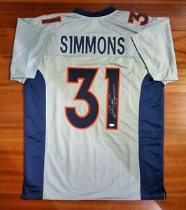 Justin Simmons Autographed Signed Jersey Denver Broncos Beckett