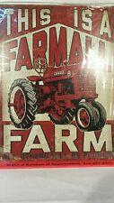 Ertl Farmall farm tractor metal sign replica collectible