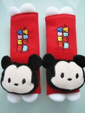Mickey Mouse Tsum Tsum Red Plush Car Seat Belt Cover One Pair Free Shipping