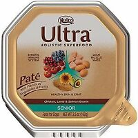 Nutro Ultra Senior Pate Chicken, Lamb & Salmon Entree Dog Food Trays