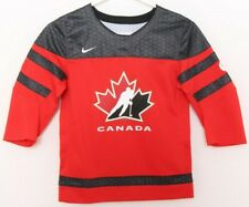 NEW Canada IIHF Black Leaf Mesh Patch Nike Team Ice Hockey Jersey Youth S
