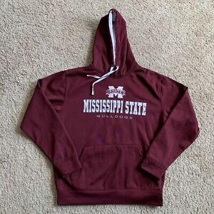 Colosseum Mississippi State Bulldogs Men's Large Maroon Hoodie Sweatshirt 1B