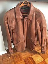 Pelle Pelle Marc Buchanan Brown Leather Bomber Jacket Size 38 (Medium)