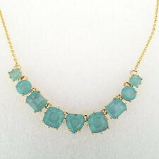 Les Nereides Necklace Aqua Green Gold Chain La Diamantine 9 Stone