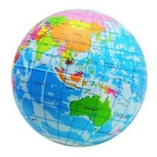 Earth World Map Globe Foam Stress Relief Bouncy Balls Geography Map Teaching