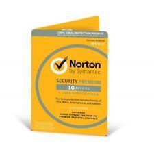 Symantec Norton Security 21355376 Premium 3.0 25GB in 1 User 10 Devices 12MO Car