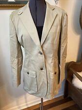 LAUREN RALPH LAUREN Size 6 Women's Tan Khakii Cotton Equestrian Button Jacket