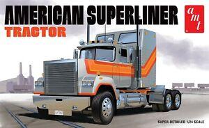 AMT Américain Superliner Semi Tracteur 1/24 1235 Modèle Plastique Kit