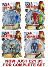 IRON MAN 3 MOVIE ALL-STAR ACTION FIGURES WAVE 1 - COMPLETE 4 FIGURE SET - NEW