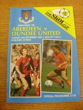 20/09/1988 Scottish League Cup Semi-Final: Aberdeen v Dundee United [At Dens Par