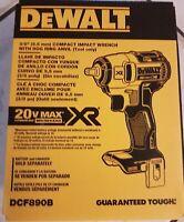 """DeWalt 20V MAX XR Brushless 3/8"""" Impact Wrench Bare Tool DCF890B"""