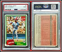 1981 Topps Coca-Cola #9 Mike Schmidt PSA 9 Mint Card Phillies MLB Baseball HOF