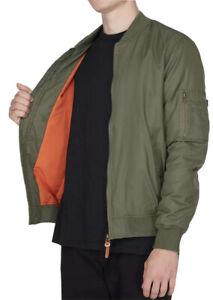 Men's Element Feather Khaki Bomber Jacket. Size M. NWT, RRP $119.99.