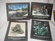 HOLOCAUST MEMORIAL MIAMI BEACH FL.SET OF 4 POSTCARDS KENNETH TREISTER ART 1990