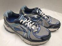 Women's Brooks Adrenaline GTS 12 Running Shoes Navy/Aqua/Silver Size 7W LOOK