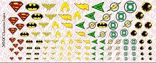 Decals: DC Superhero logos - Superman, Wonder Woman, etc Waterslide Decals