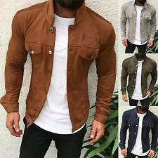 Men's Slim Collar Biker Jacket Coat Causal Outdoor Cardigans Blazer Outwear Top