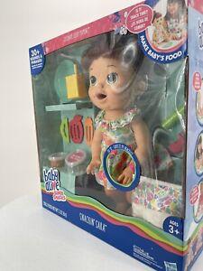 New Hasbro Baby Alive Red Hair Super Snacks Snackin Sara Doll in box